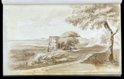 f.12   'View from Nizam Shah Tomb: below is the town of Ellora.'